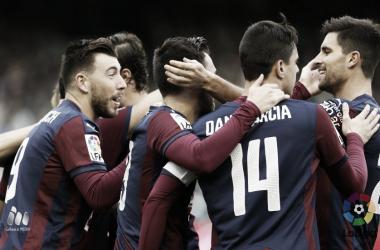 Los jugadores del Éibar celebran un gol | LaLiga