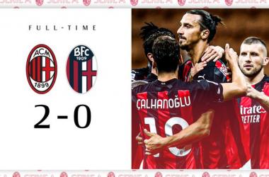 Serie A - Il Milan riparte dal solito Ibrahimovic: 2-0 al Bologna