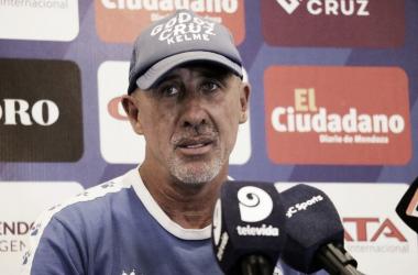El DT ahondó sobre la propuesta que tiene para armar el equipo. Foto: Prensa Godoy Cruz.