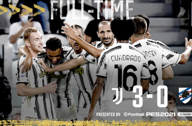 La Juventus cala il tris contro la Sampdoria