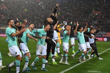 El Neroazurro celebra la gran remontada ante Bologna / Foto: Twitter oficial Inter de Milán