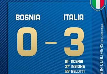 Qualificazioni Euro 2020 - Italia da record: 3-0 contro la Bosnia di Dzeko