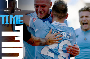 Pari nervoso tra Lazio e Inter: a Lautaro Martinez risponde Milinkovic-Savic