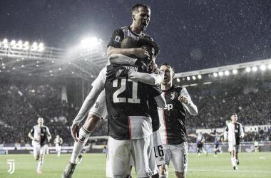 Juventus celebrando el gol de Higuaín vía twitter Juventus