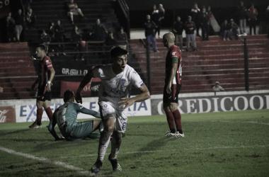 DESAHOGO. Brunetta y un grito que lo festejó todo el Tomba. Foto: Club Godoy Cruz