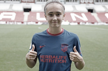 Yolanda Sierra en su debut/ Web: Atlético de Madrid oficial