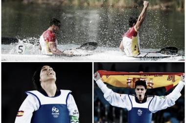 Craviotto, Toro, Calvo y González, medallistas en Río. Fotos: COE.