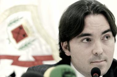 Raul Martín Presa en un acto del Rayo Vallecano | Fotografía: Rayo Vallecano