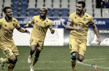 Álvaro Giménez celebrando un gol | Fotografía: La Liga