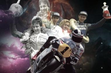 Collage de uno de los protagonistas, Freddie Spencer. Foto: motogp.com