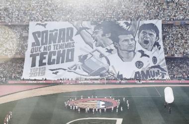 tifo de la copa del rey 2019, uno de los Valencia CF vs FC Barcelona más recordados y queridos por el cuadro che / Fuente : Valencia CF