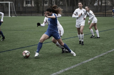 Breakers defender Brooke Elby scores her first goal of preseason. | Source: Boston Breakers Twitter, @BostonBreakers
