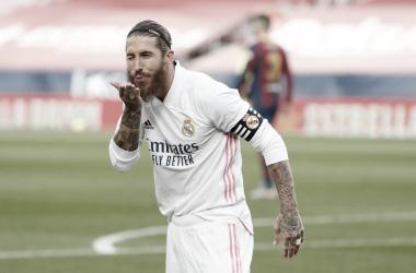 """Sergio Ramos destaca vitória do Real Madrid no clássico, mas ressalta: """"Longo caminho para percorrer"""""""