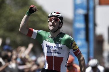 Elia Viviani llegada de la primera etapa Tour Down Under /Imagen Getty