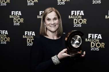 Jill Ellis won Best Women's Coach after winning the FIFA Women's World Cup for the third time in US history (Source: Mike Hewitt/FIFA)