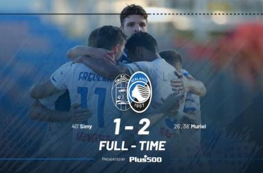 L'Atalanta torna a vincere: battuto il Crotone 2-1