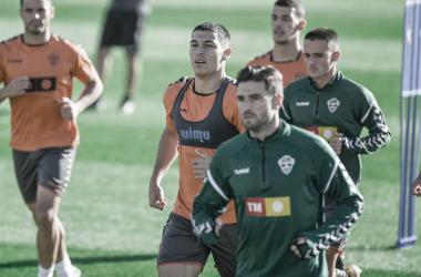 Los jugadores entrenando para hacer frente al Celta | Foto: LaLiga Santander
