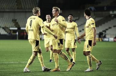 Em primeiro tempo arrasador, Borussia Dortmund vence Club Brugge e lidera Grupo F