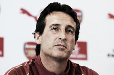 Emery en rueda de prensa | Fotografía: Arsenal