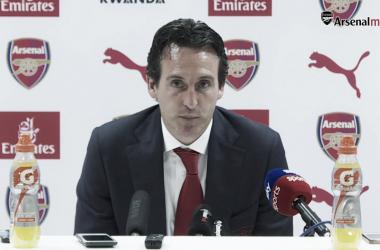Emery en la rueda de prensa posterior al partido | Fotografía: Arsenal