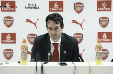Unai Emery en sala de prensa | Fotografía: Arsenal