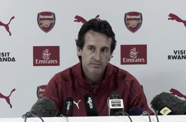 Emery en la rueda de prensa previa | Fotografía: Arsenal