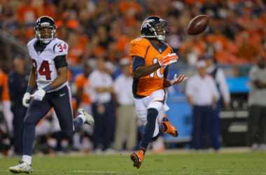 Emmanuel Sanders Catches 2 TD's As Broncos Fall To Texans 18-17