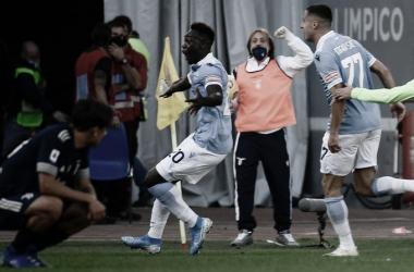 Caicedo celebrando el 1-1 / FOTO: AFP