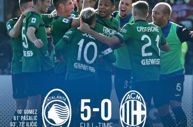 Serie A - Atalanta straripante: battuto ed umiliato il Milan (5-0)