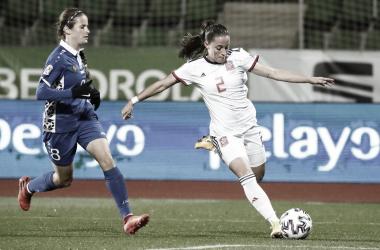 España suma tres victorias al hilo con veintitrés tantos y dio otro paso contundente en los Clasificatorios Europeos Femeninos 2022 | Fotografía: Sefutbol Fem