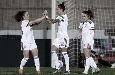 Jenni Hermoso, la nueva máxima goleadora histórica de 'La Roja' | Fotografía: Sefutbol Fem
