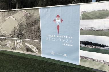 El cartel que presentaba la Cidade Deportiva Afouteza el día de su inauguración. | Foto: RC Celta.
