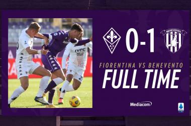 Benevento corsaro al Franchi: battuta 0-1 una brutta Fiorentina