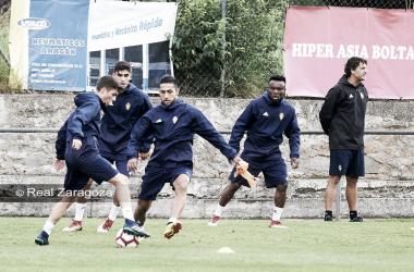 Jugadores zaragocistas durante la pretemporada | Foto: Real Zaragoza