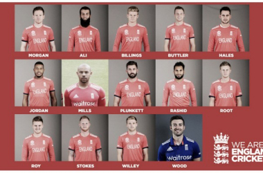 England's 14-man squad for the Pakistan T20 (image via: englandcricket.co.uk)