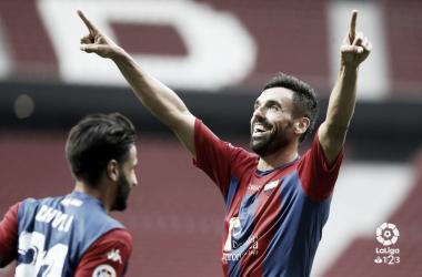 Enric Gallego celebrando un gol ante el Rayo Majadahonda | Foto: LaLIga