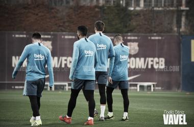 Los jugadores del FC Barcelona ya piensan en el Espanyol. FOTO: Noelia Déniz
