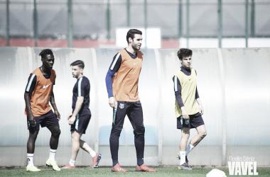 Imagen de los jugadores del Barça B entrenando. FOTO: Noelia Déniz
