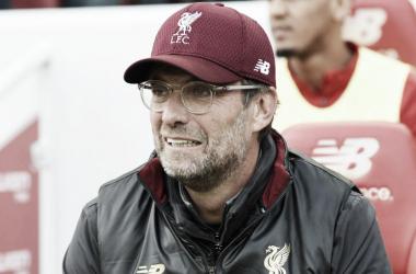 Jürgen Klopp en el partido ante el Manchester City | Fotografía: Liverpool