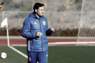 Santi Denia, entrenador de la Selección Sub17. / FOTO: RFEF
