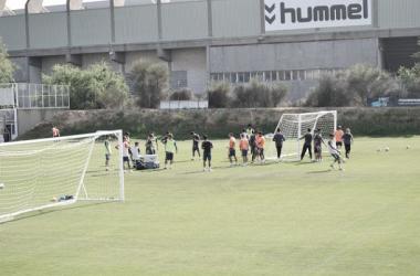 Los jugadores del Real Valladolid han trabajo de forma muy intensa durante esta mañana. (Foto: Alvar Salvador - VAVEL).