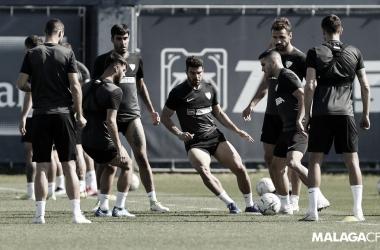 Entrenamiento// Foto: Málaga CF