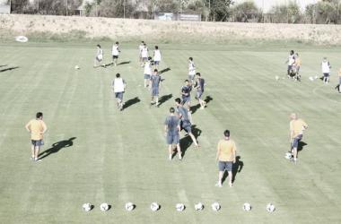 El Real Valladolid prosigue con su buena preparación. (Foto: César Rodríguez).