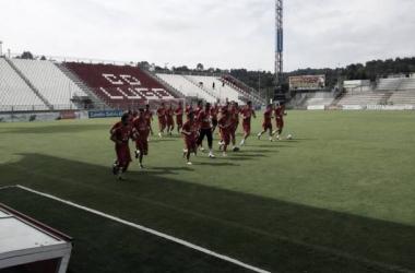 El equipo prepara el siguiente partido