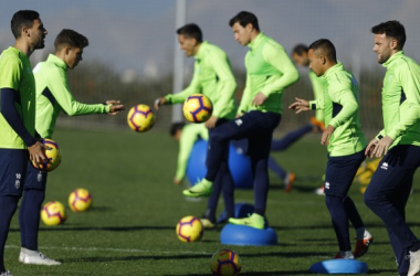 Entrenamiento del Granada CF . Foto: Pepe Villoslada / Granada CF.