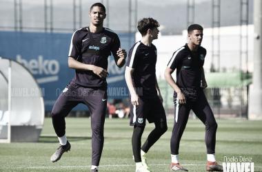 Foto de archivo de una sesión de entrenamiento del Barça B. FOTO: Noelia Déniz