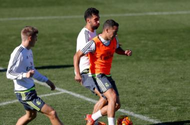 Ronaldo y Kroos se suman al grupo en el tercer entrenamiento semanal