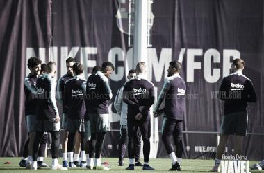 Entreno del FC Barcelona / Foto: Noelia Déniz (VAVEL)