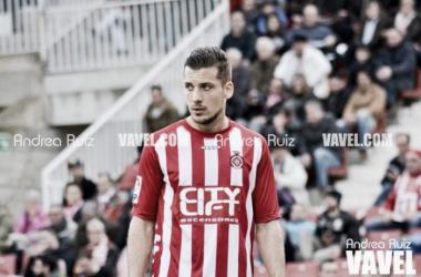 Àlex Granell, en una imagen del Girona-Oviedo (1-1) del pasado 21 de febrero   Foto: Andrea Ruiz (VAVEL).