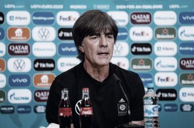 Joachim Löw en rueda de prensa /Foto: Federación Alemana